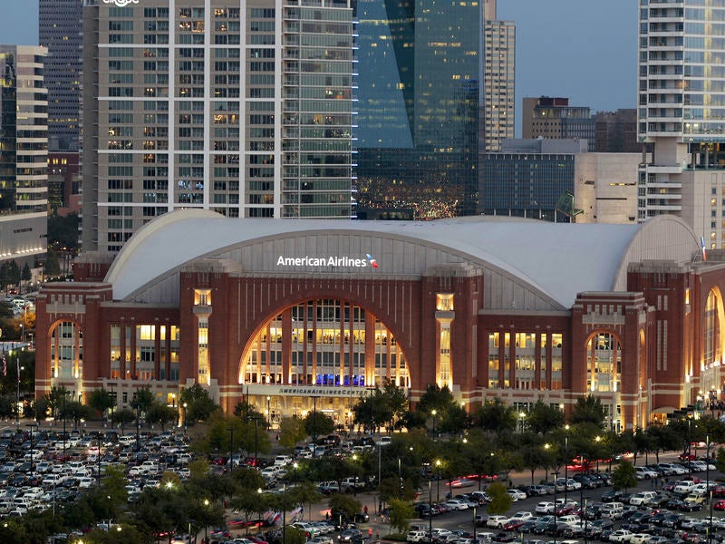 American Airlines Center in Victory Park
