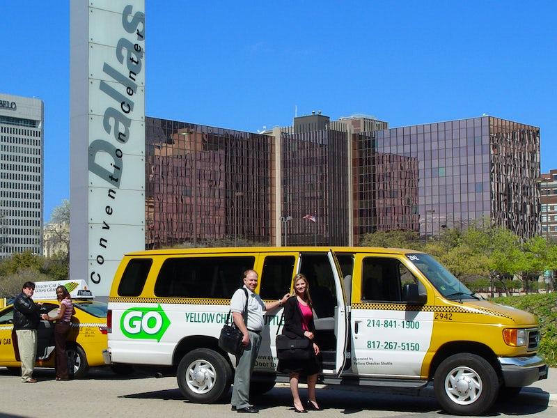 GO Yellow Checker Shuttle in Far West Dallas