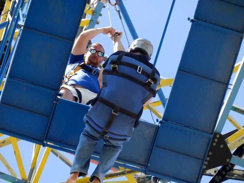 Zero Gravity Thrill Amusement Park in Far West Dallas