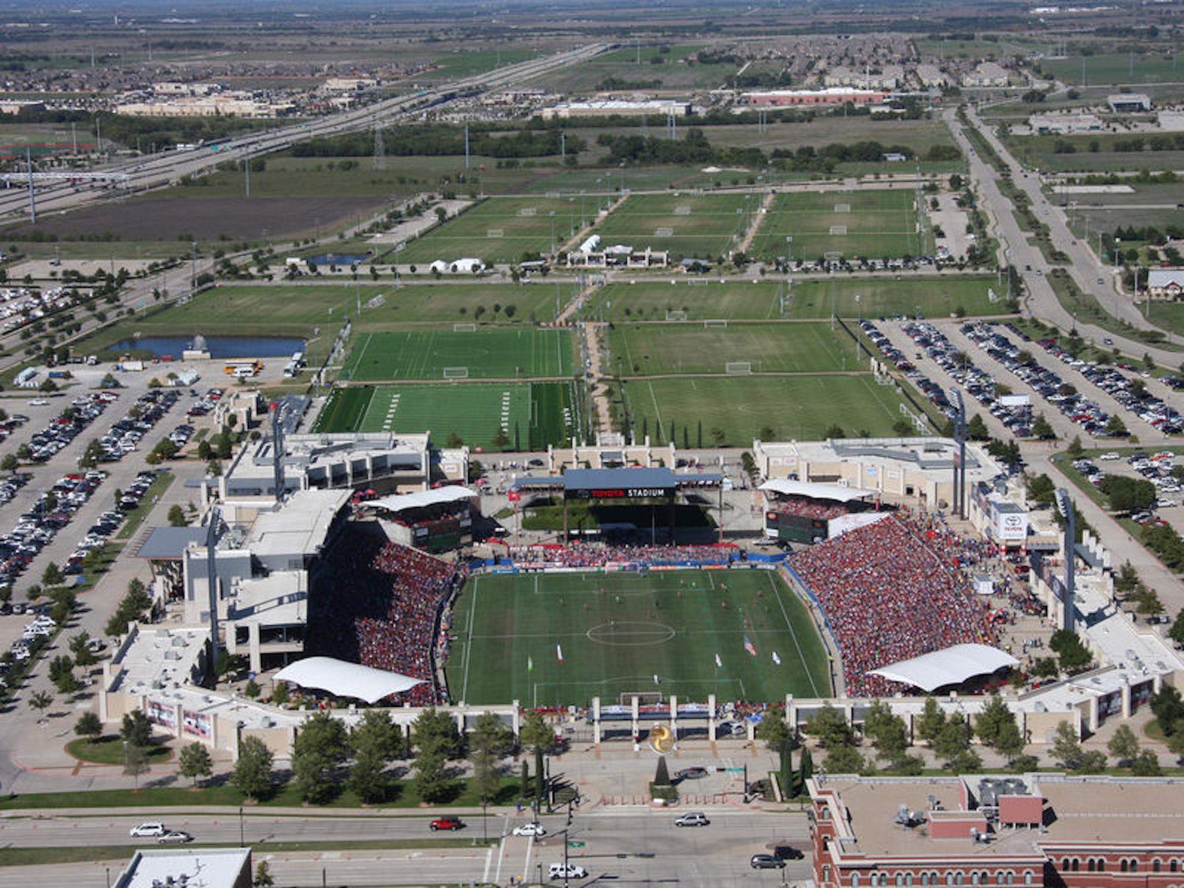 Toyota Stadium & Soccer Center in Beyond Dallas