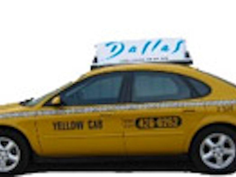 Yellow Cab in Far West Dallas
