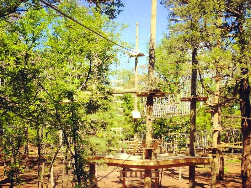 Trinity Forest Adventure Park in Beyond Dallas